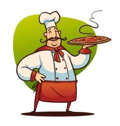cartoon cook character vector image vector image