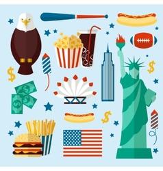 New York USA set vector image vector image