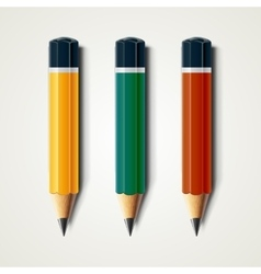Realistic detailed sharpened pencils isolated on vector image vector image