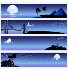 romantic travel banners vector image