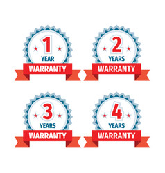 1 2 3 4 years warranty - concept badges design vector image