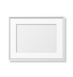 3d realistic horizontal white wooden simple vector image