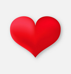 3d red heart vector
