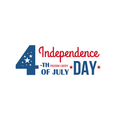 4th july united states america holiday vector image