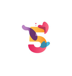 5 years anniversary celebration flux template vector