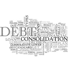 A great plan to eliminate debt text word cloud vector