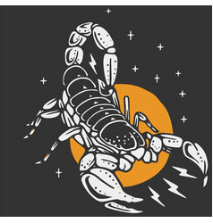 A scorpion for tshirt or tattoo vector