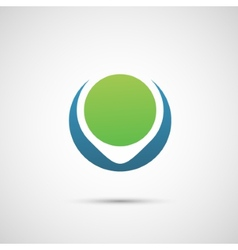 Abstract symbol of planet and environment vector image