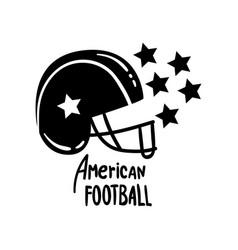 american football helmet retro design element vector image