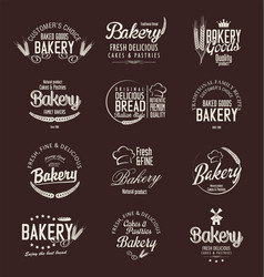 bakery labels vector image