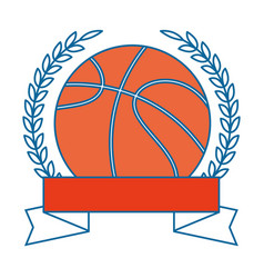 basketball ball emblem vector image