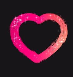 Brush Stroke Heart vector