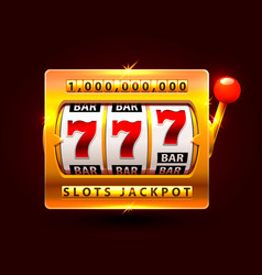 casino slots jackpot one million vector image