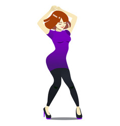 club dance in cartoon style vector image