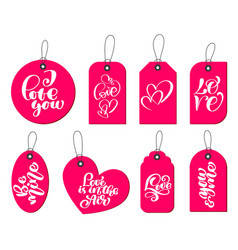 collection of hand drawn cute gift tags with the vector image
