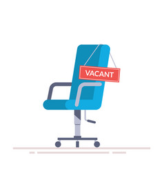 comfortable office chair with a vacancy sign vector image