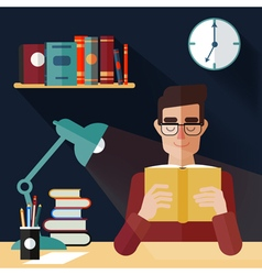 Concept of Reading Books Man Reading Book vector