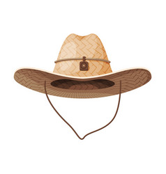 cowboy hat retro farmer headdress retro fashion vector image