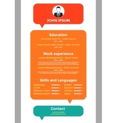 CV resume template vector image
