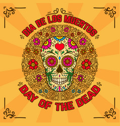 Day of the dead dia de los muertos banner vector