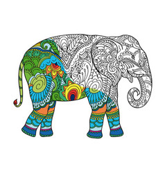Drawing stylized elephant vector