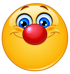 Emoticon with clown nose vector image