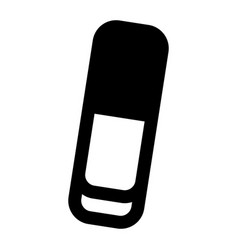 eraser icon simple style vector image