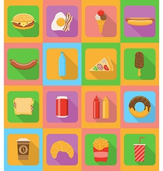 Fast food flat icons 20 vector