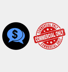 financial chat messages icon and grunge vector image