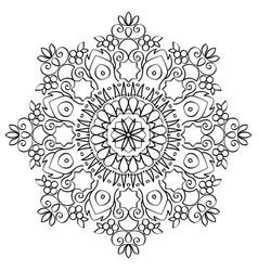 Floral mandala round pattern vector