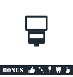 Flush bulb icon flat vector
