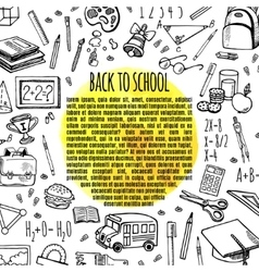 Frame sketch back to school vector