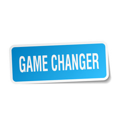 Game changer square sticker on white vector