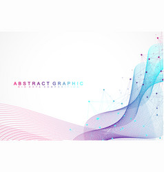 geometric abstract background with connected lines vector image
