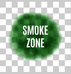 green smoke for use on light background vector image