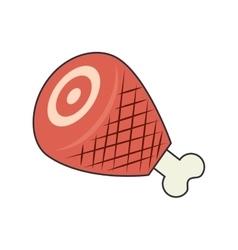 ham leg food vector image