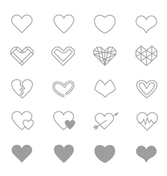 Heart Icons Line Set Of copy vector