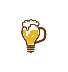 idea beer logo icon design vector image