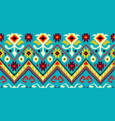 Ikat geometric folklore pattern vector