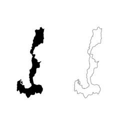 Ilocos region map vector
