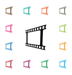 isolated video icon photo tape element can vector image