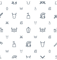 Knight icons pattern seamless white background vector
