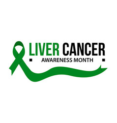 liver cancer awareness vector image
