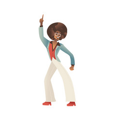 man dancing disco isolated vector image