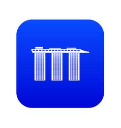 marina bay sands hotel singapore icon digital vector image