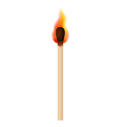 match with fire flame mockup realistic style vector image