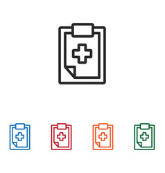 medical history icon vector image