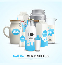 Natural milk products background vector