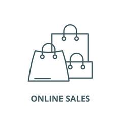 online sales line icon linear concept vector image
