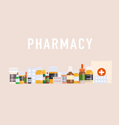 pills background posterbanner for web site vector image